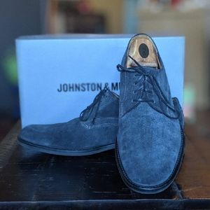 Navy Suede Johnston and Murphy Dress Oxfords